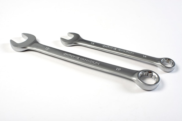 Two wrench   isolated white