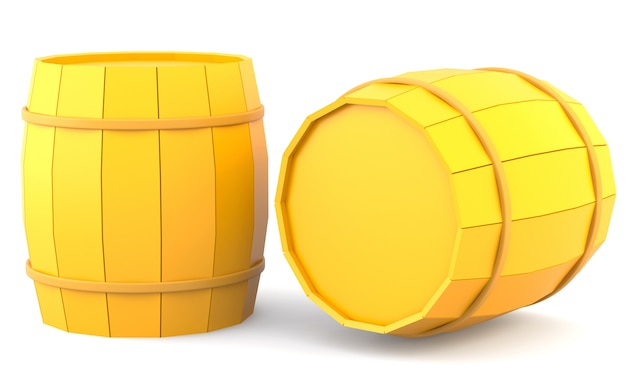 Two yellow barrels