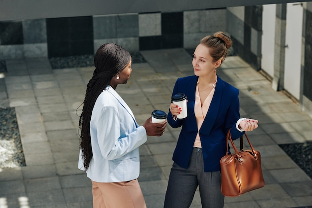Two young businesswomen