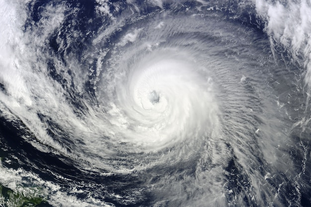 Typhoon over planet earth. elements of this image furnished by nasa