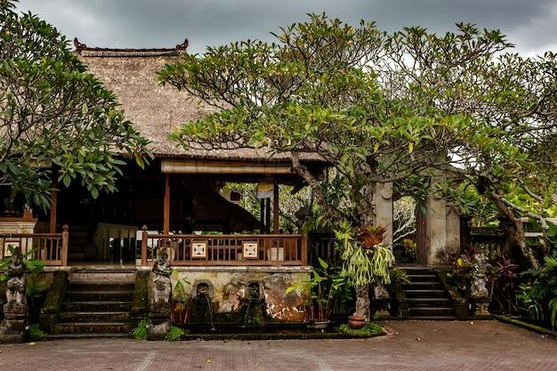 Typical balinese patio. ubud city