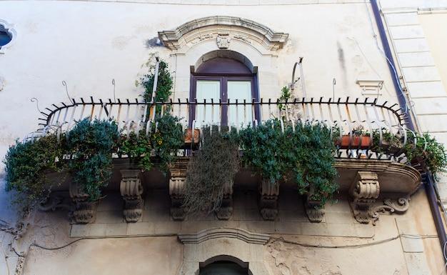 Typical baroque balcony, ortigia
