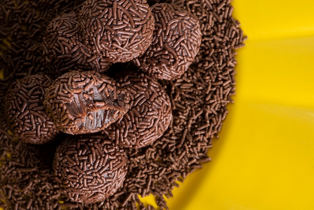 Typical brazilian sweet called brigadier