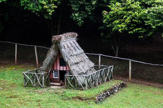 マデイラ島の典型的な家