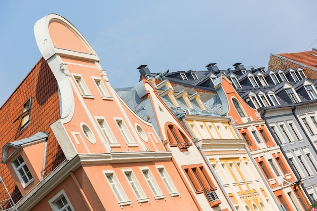 Typical houses in riga, latvia