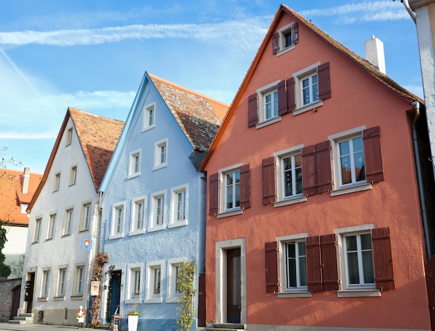 Typical houses in rothenburg ob der tauber