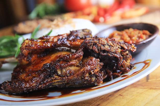 Typical indonesian duck roasted duck
