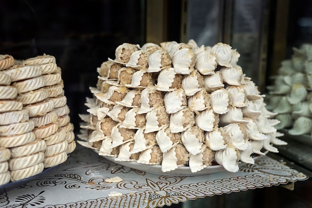 Typical moroccan sweets. homemade