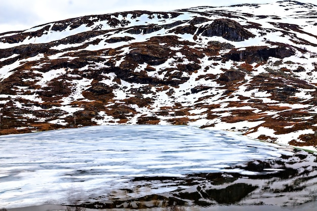 A typical northern landscape: mountains and lake