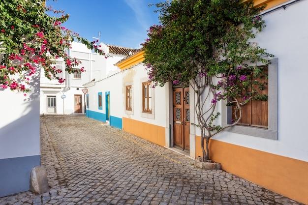 Типичная португальская аллея. улица поселка.
