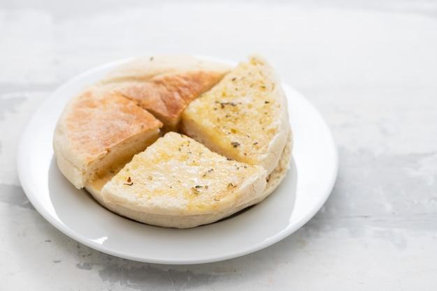 Typical portuguese bread madeira bolo do caco