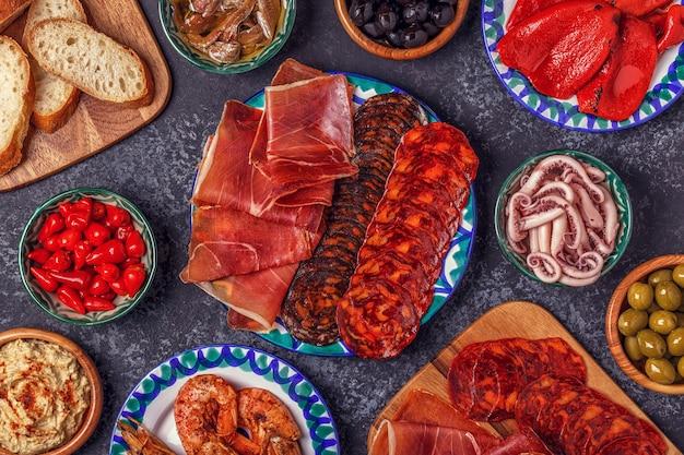 Типичная испанская концепция тапас.
