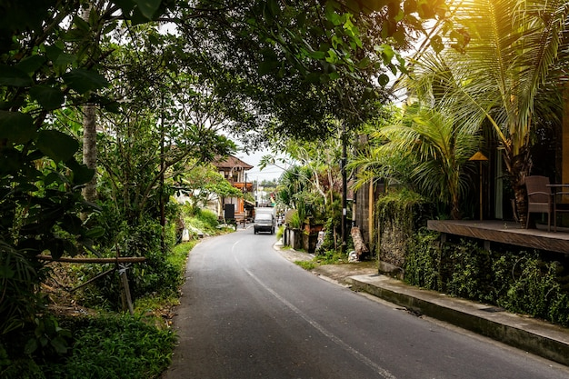 Типичная улица острова бали.