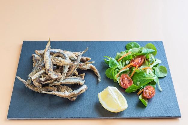 Typical tapa of fish in spain (pescaito frito)