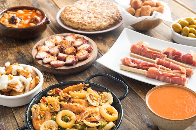 Typical tapas in spain