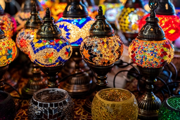 Typical turkish table lamps
