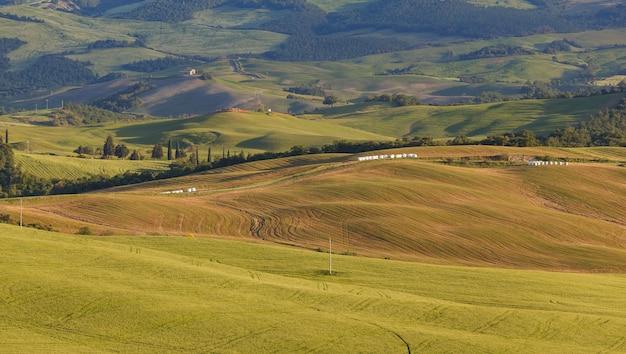 전형적인 투스카니 풍경 경치 이탈리아