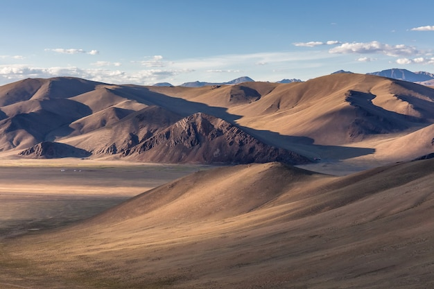 Typical view of mongolian landscape. mongolia steppe, mongolian altai