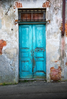 Typical vintage wooden door