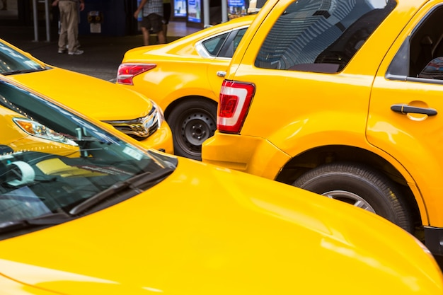 Typical yellow cabs in new york
