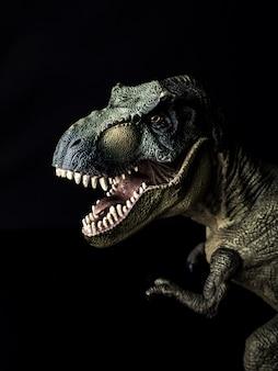 Tyrannosaurus t-rex dinosaur on black  background