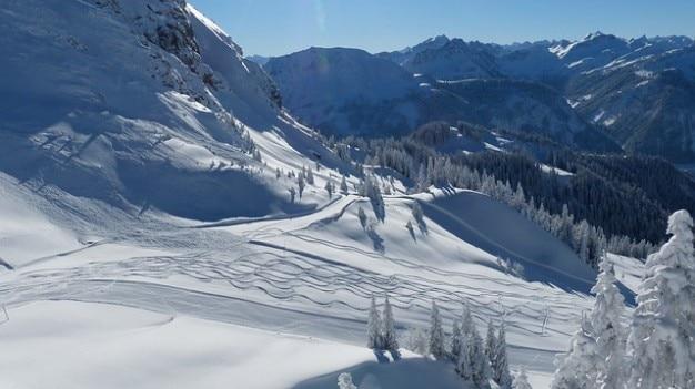 Tyrol runway run slope skiing ski