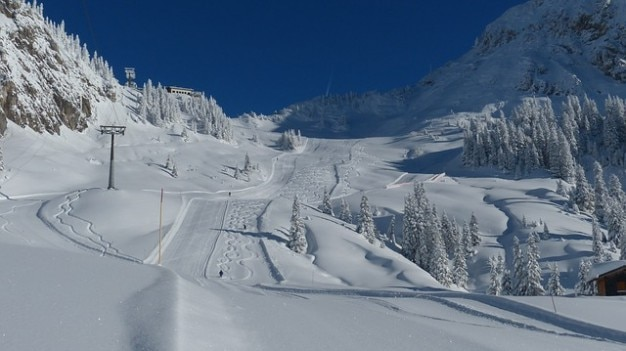 Tyrol ski run skiing slope runway
