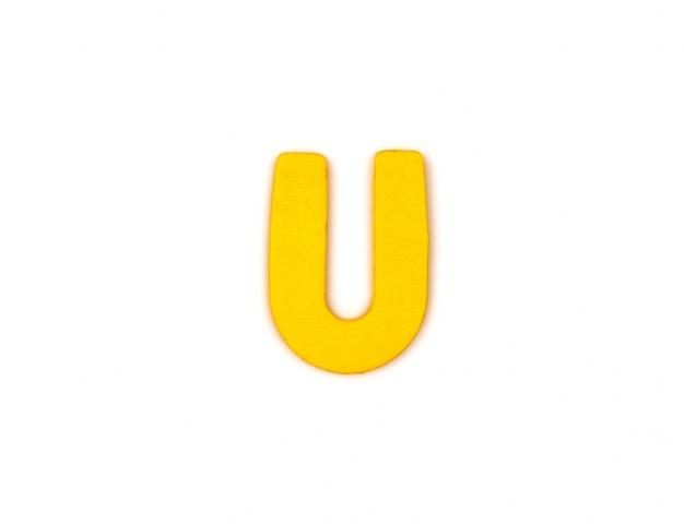 黄色の文字のu