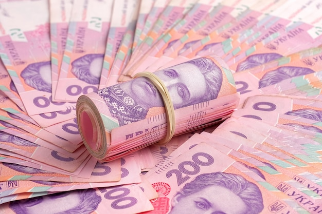ウクライナの紙幣uah。