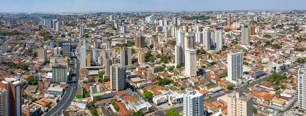 Uberaba state of minas gerais brazil. aerial view of the city of uberaba
