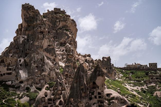 Учисар замок в гереме, каппадокия, турция.