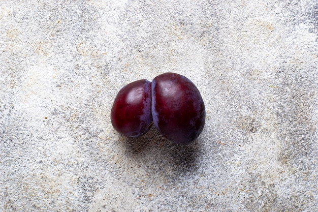 Ugly plums, abnormal organic fruit