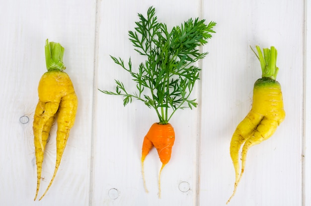 Ugly shaped vegetables, food