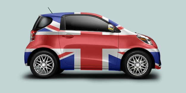 Uk flag car
