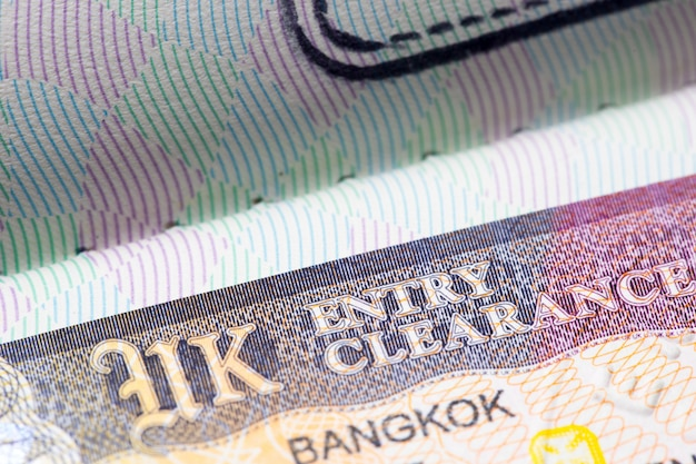 여권에 영국 영국 비자