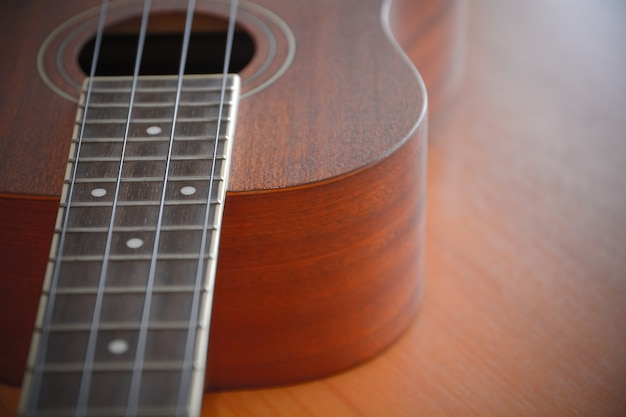 Ukelele with selective focus