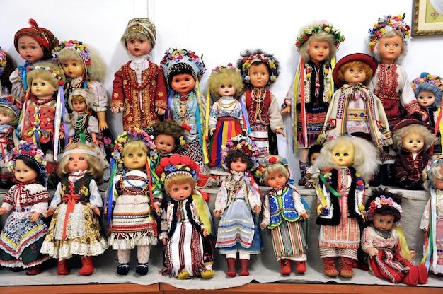 ウクライナの民族衣装、人形、人形のコレクション