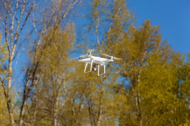 Ukraine kquadcopter flies takes off video and photo from airwhite quadcopter steams in air