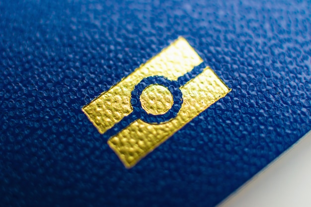 Ukraine passport element close up