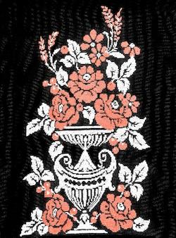 ウクライナの手刺繡刺繍された民俗飾りレトロなスタイルの刺繡デザイン