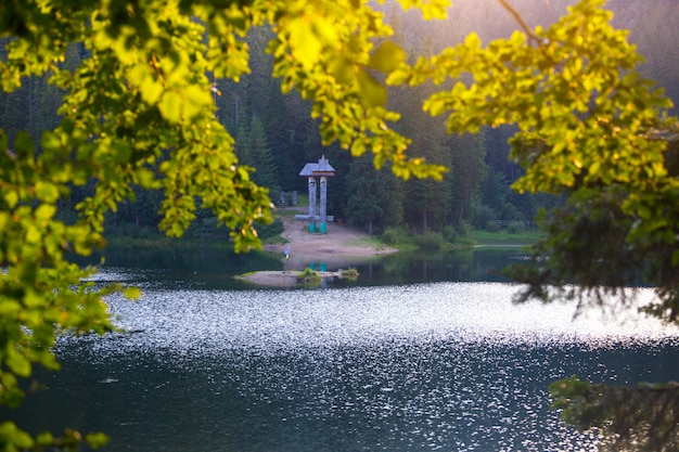 우크라이나 풍경 - carpathians, 우크라이나에서 호수 synevyr
