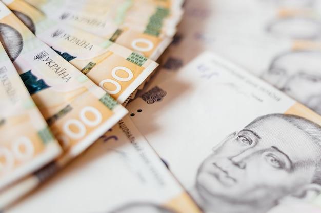 Украинские деньги. из пятисот гривен банкнот