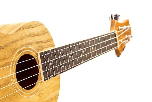 Ukulele hawaiian guitar isolated on white