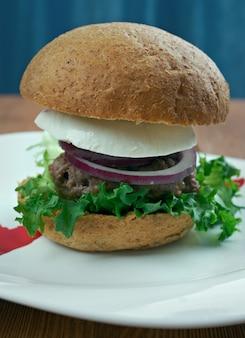 Ultimate greek burgers - tasty beef burger in the greek style