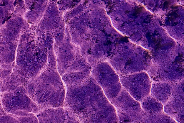 Ultra violet pattern of ripple wave with sun reflection