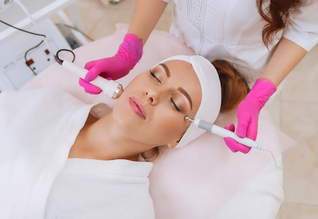 Ultrasound cavitation procedure. anti-aging, lifting procedure.