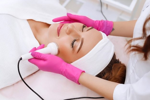 Ultrasound cavitation procedure. anti-aging, lifting procedure.