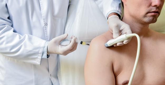 肩の超音波ガイド下多血小板血漿注射