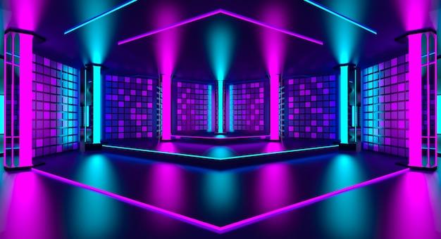 Ultraviolet podium decoration empty room