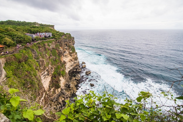 Uluwatu temple pura luhur uluwatu is a balinese hindu sea temple located in uluwatu. it is renowned for its magnificent location, perched on top of a cliff.